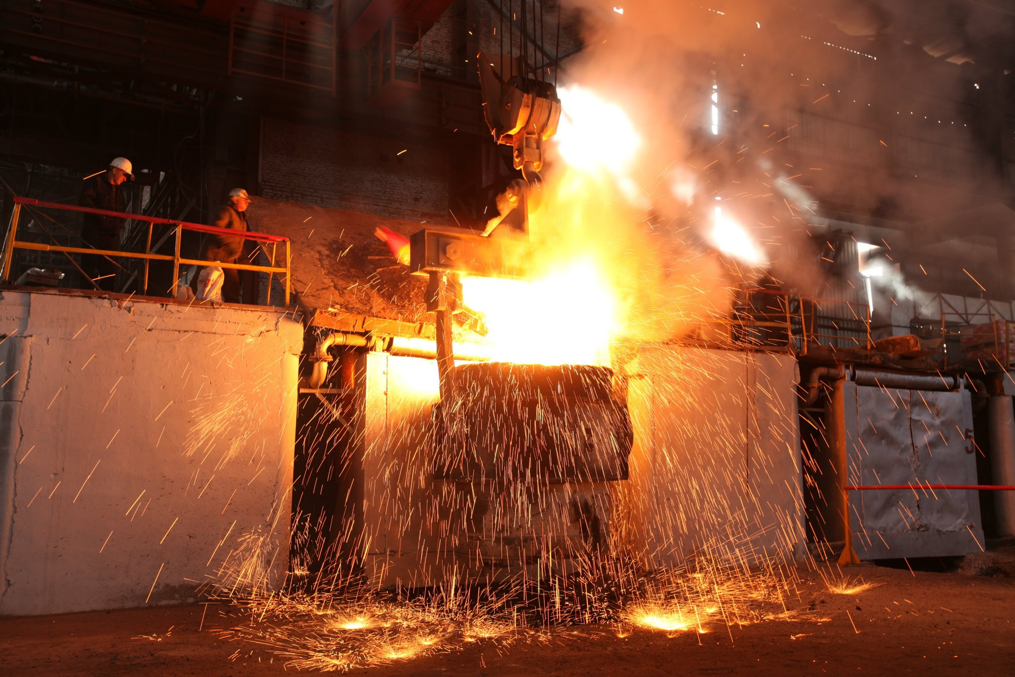 steel-melting shop and reinforcing bar shop